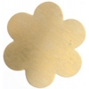 Metal Blank 24ga Brass Flower 34mm No Hole 9pcs